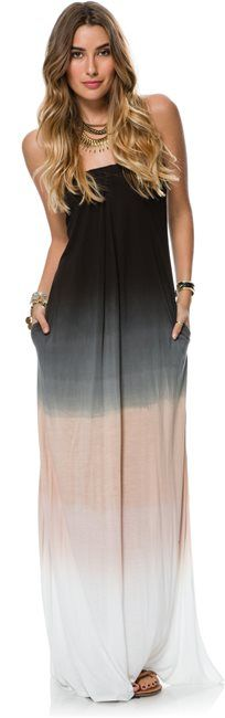 CLAIRE STRAPLESS MAXI DRESS > Womens > Clothing > Dresses | Swell.com