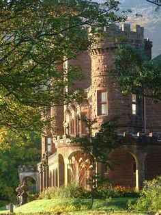 Kinloch Castle on the Isle of Rum, Scotland.