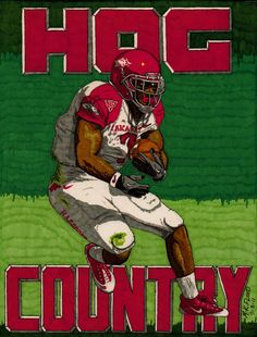 """""""Hog Country"""" did this one for the arkansas razorback fans. received both recognition and all time best awards from fanartreveiw."""