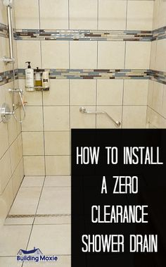 Zero clearance shower drains have become an important aspect of universal bath design. Here's how to retro fit one in a traditional tub shower location. Ada Bathroom, Handicap Bathroom, Basement Bathroom, Bathroom Ideas, Brown Bathroom, Bathroom Makeovers, Glass Bathroom, Bathroom Designs, Shower Drain