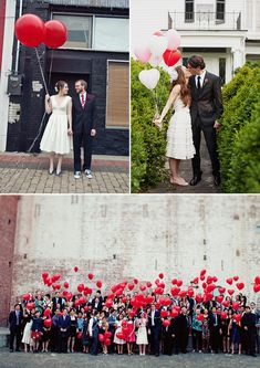 Ask guests to make a wish for the newly married couple and release the balloons all together... Love the idea!