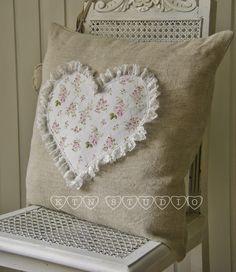 shabby linen pillow / poduszka shabby - chic