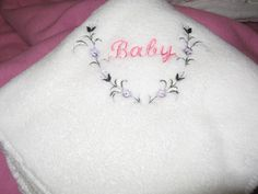 Fleece Baby Blanket Embroidered Pink Baby Floral by kalliescotton Embroidered Baby Blankets, Fleece Baby Blankets, Etsy Handmade, Tattoo Quotes, Hot Pink, Floral Wreath, Monogram, Etsy Shop, Embroidery