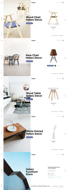 HEBES is clean, stylish and modern #design PSD #template for sunning interior, decor, furniture #stoer eCommerce website with 16 niche homepage layouts and 78 layered PSD pages to live preview & download click on Visit