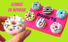 Cómo hacer GOMAS DE BORRAR o BORRADORES caseros - Donuts o Donas - Regre...