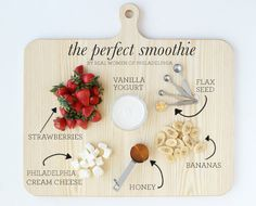 ingredients for the perfect strawberry banana smoothie