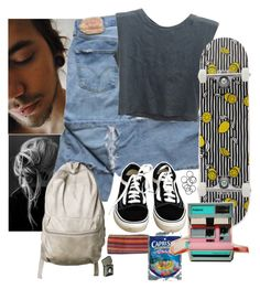 """""""dude"""" by blacksheep0 ❤ liked on Polyvore featuring Vans, Brandy Melville, AMI, FRUIT and H&M"""