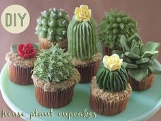 Wow! I want this garden! Delectable cupcakes disguised as succulents. Perfect for a wedding desert table!