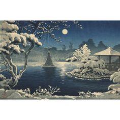 土屋光逸 (風光礼讃) - 日比谷の月 (1933)
