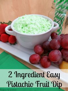 Up for trying something delicious, easy and only 2 ingredients? This 2 ingredient Pistachio Flavored Easy Fruit Dip is just the thing!