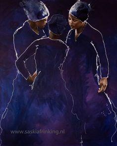 African women ladies in blue