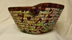 Fabric Coil Basket by AuntBugsBowls on Etsy