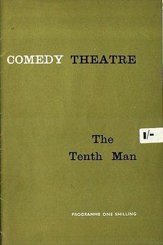 The Tenth Man Theatre Programme 1961 with David Kossoff and Paul Eddington