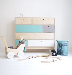 We love designing the children's room in scandi style! Meet our wooden chest of drawers KLOPS with colored fronts. Designed by Wood Republic. Trendy Bedroom, Kids Bedroom, Bedroom Decor, Wardrobe Drawers, Bedroom Wardrobe, White Wardrobe, Bedroom Green, White Bedroom, Playrooms
