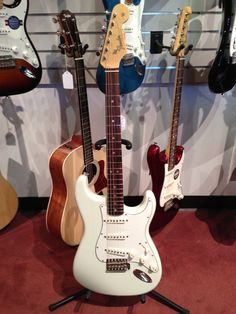 Love this new Fender American Vintage 65 Strat in Olympic White! Jimi played one of these… Check Out The NEW '65 Vintage Re-Issues!