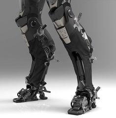 Cybernetics brown to blue ombre hair - Ombre Hair Robot Concept Art, Armor Concept, Cyberpunk Fashion, Cyberpunk Art, Character Concept, Character Art, Futuristic Armour, Arte Robot, Ex Machina