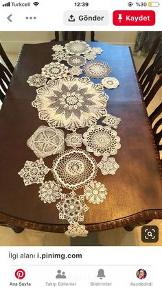 Diy table runner in lace 57 ideas - Quick, Easy, Cheap and Free DIY Crafts Doilies Crafts, Lace Doilies, Crochet Doilies, Crochet Projects, Sewing Projects, Crochet Crafts, Sewing Tips, Doily Art, Crafts To Make