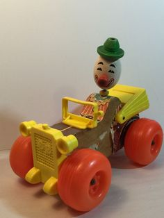 Vintage Fisher Price Jalopy Clown Car Collectible Toy | eBay