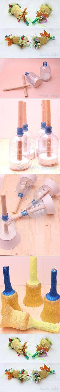 DIY Plastic Bottle Bouquet Holder