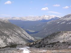 Lyell Canyon from near the top of Donahue Pass - Yosemite National Park along the JMT/PCT