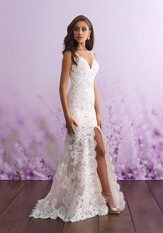 There's no better way to share your attention to detail and fashion than an Allure romance wedding dress. Our stunning selection of allure romance bridal dresses are sure to have you looking your best on your special day! Wedding Dress Pictures, Dream Wedding Dresses, Bridal Dresses, Wedding Gowns, Bridal Gown, Civil Wedding Dresses, Beach Wedding Dresses Casual, Wedding Photos, Wedding Dresses For Petite Women