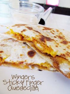 wingers sticky finger quesedilla - Excellent all around, mixed it with a ton of ranch for the kiddos, and ranch just to dip in for Gene.  The kids ate 2nds and 3rds.