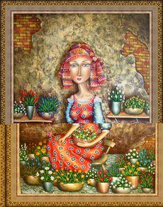 Zurab Martiashvili. flower-girl