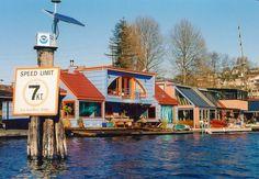 Seattle houseboat community.