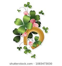 St Patricks Day Pictures, St. Patricks Day, Four Leaf Clover Tattoo, Clover Tattoos, Vintage Fairies, Vintage Flowers, Clover Plant, Good Luck Clover, Ireland Holiday