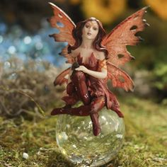 Afreda Fairy on Glass Ball #fairygarden #factorydirectcraft