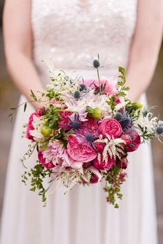 Colorful Bouquet by Elegance & Simplicity | Photo by Amber Kay Photography | Colorful Historic Mansion Wedding on heartlovealways.com