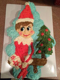 Elf on the Shelf Cupcake Cake ⛄️❄️
