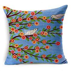 conjunto de 5 bela algodão árvore flor / linho fronha decorativo - USD $ 59.39