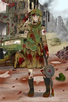 I was a nurse this morning by TheSourKraut Anime Military, Military Girl, Alien Character, Character Art, Fanarts Anime, Anime Characters, Military Archives, Guerra Anime, Military Drawings