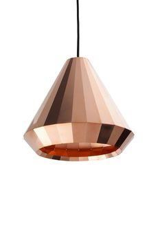 Copper pendant light, $878, David Derksen Design.