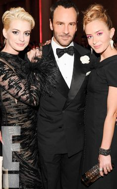 Anne Hathaway, Emily Blunt and Tom Ford at Met Gala 2013