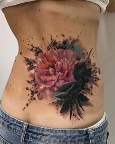 Back tattoo; Back tattoo; Lotusblume Tattoo, Tattoo Hals, Cover Tattoo, Tattoo Neck, Tattoo Fonts, Tattoo Quotes, Abdomen Tattoo, Tattoo Spine, Creative Tattoos