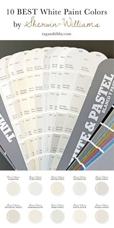 10 Best White Paint Colors by Sherwin-Williams — Tag & Tibby Design - 10 Best White Paint Colors by Sherwin-Williams -