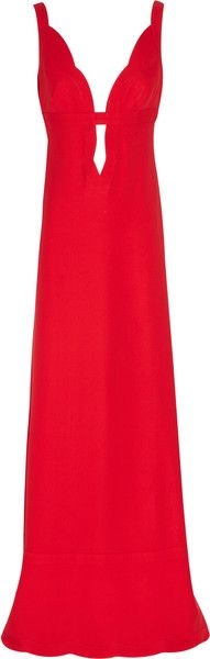 Plunge Front Silk Cady Gown - Valentino
