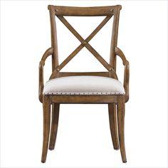 European Farmhouse - Fairleigh Fields Host Chair in Blond - 018-61-70 - dining room - Stanley Furniture
