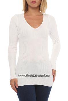 Damen Langarm Pullover Mona Weiß