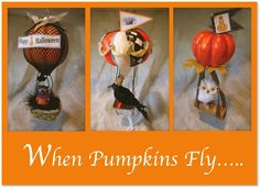 When Pumpkins Fly -- more cute ideas for pumpkins for Halloween decorating  -- from PennyWise