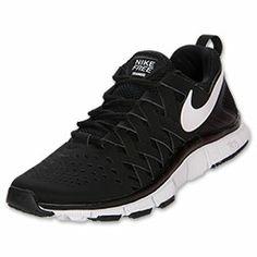 Men's Nike Free Trainer 5.0 Cross Training Shoes | FinishLine.com | Black/Black/White