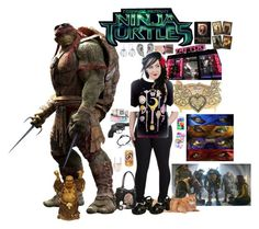 """""""Teenage Mutant Ninja Turtles 2014 OC """"Tina Provence"""""""" by retro-wife92 ❤ liked on Polyvore featuring Benefit, Nails Inc., John Hardy, Martick and Samsung"""
