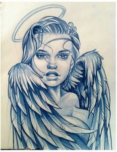 sketches of angels Baby Tattoos, Body Art Tattoos, Girl Tattoos, Sleeve Tattoos, Cool Sketches, Tattoo Sketches, Tattoo Drawings, Art Drawings, Ink Master
