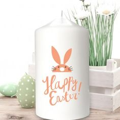 Personalised Bunny Easter Candle