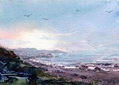 "Daily+Paintworks+-+""Morning+Mist""+-+Original+Fine+Art+for+Sale+-+©+Linda+Henry"