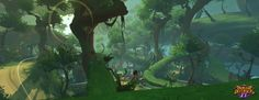 ArtStation - Liferoot Forest - Dungeon Defenders 2, Daniel Diaz