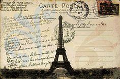 Vintage Paris postcard Printable