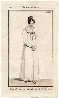 Redingote de percale, 1813 costume parisien